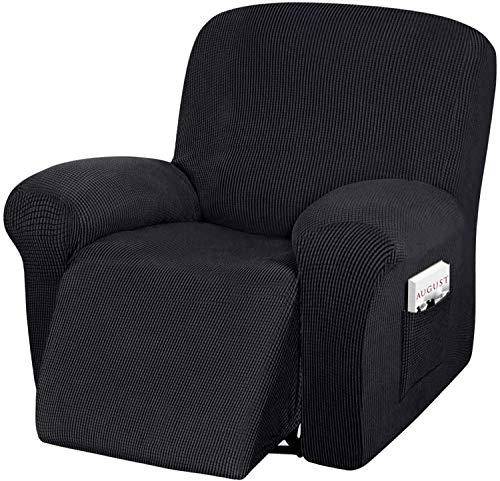 FDQNDXF Stuhlbezüge Recliner Sofa Slipcover, 4-teiliger, hoch dehnbarer Liegestuhlbezug, maschinenwaschbarer Spandex-Jacquard-Stoff, Boden elastisch,, rutschfeste Mö