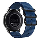 MoKo Band Compatible with Samsung Galaxy Watch 3 45mm/Gear S3 Frontier/Classic/Galaxy Watch 46mm/Huawei Watch GT2 Pro/GT 2e/GT 46mm/GT2 46mm/Ticwatch Pro 3, 22mm Fine Woven Nylon Strap - Royal Blue