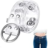LWZko Cinturón de Moda para Mujer, Transparente Cinturón de Cintura, PVC Moda Claro Agujero Único Cinturón de Ojal para Niñas Vestidos, Vaqueros, Ropa Informal y Formal, Accesorio de Moda - Estilo B