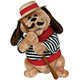 Cuddle Barn 12' Tall Gondolomio Romantic Italian Animated Plush Puppy Dog Toy Dancing and Singing Song Ole Sole Mio