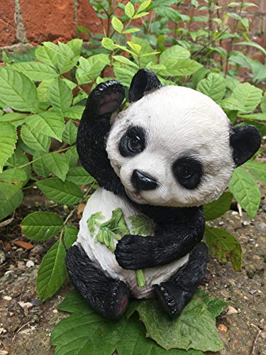 Statue représentant un petit ours panda effet réaliste pour décoration de jardin