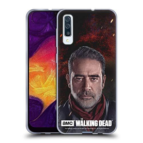 Head Case Designs Offizielle AMC The Walking Dead Negan Staffel 8 Portraits Soft Gel Huelle kompatibel mit Samsung Galaxy A50s (2019)