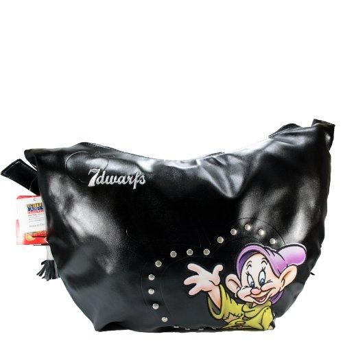Disney Borsa Shopper Borsa a Spalla Grande da donna Cucciolo Sette nani scuola Nero