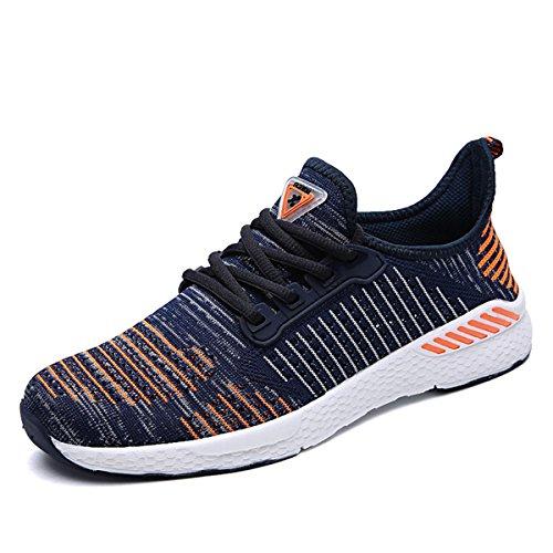 ZanYeing Unisex Bequem Schnürer Gym Fitness Atmungsaktives Mesh Turnschuhe Freizeitschuhe Ultra-Light Sportschuhe Laufschuhe,Orange,39 EU
