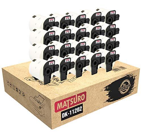 Matsuro Original | Kompatibel Rollen Versand-Etiketten Ersatz für BROTHER P-TOUCH DK-11202 DK11202 (62 mm x 100 mm | 300 Etiketten pro Rolle | 20-er PACK)