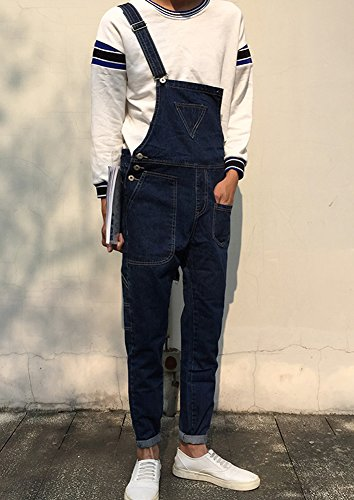 Denim Men's Triangle Pocket Bib Overalls Size 33