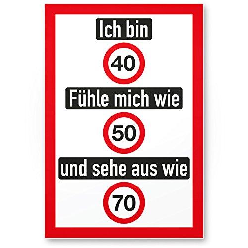 Bedankt! Ich Bin 40 jaar, grappig plastic bord - Cadeau 40e verjaardag, cadeau-idee verjaardagscadeau viertigers, verjaardagsdecoratie, partyaccessoires, verjaardagskaart