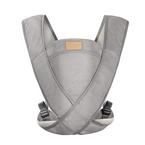 ziqing Portable X-Baby Carrier,Lightweight Infant and Child Sling,Soft Multi Adjustable Ergonomic Sling Backpack Front-Carry Carrier,One Buckle,F