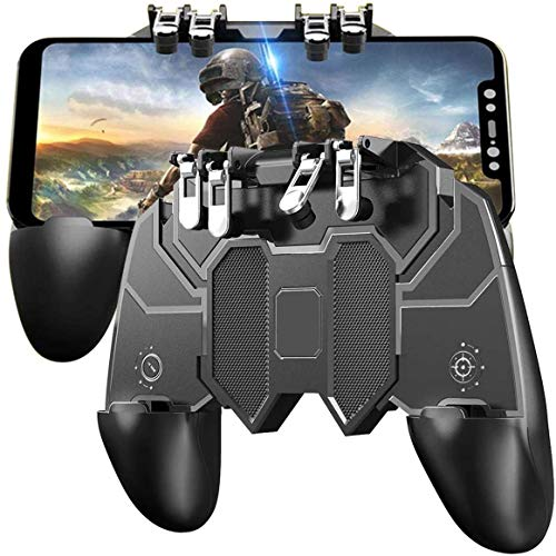Gadgets Appliances Pubg Mobile Controller with 4 Triggers, Wireless 6 Finger Operation Mobile Gaming Joystick, L1R1 L2 R2 Grip Gamepad Joystick Remote Shoot Aim Key for 4-6.5' Android & iOS Phone