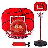 XIUYU Tragbarer Basketballkorb Tor Basketball Systemstand Höhenverstellbarer for Jugend Kinder Outdoor Indoor Basketball