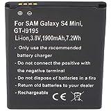AccuCell - Batería para Samsung Galaxy S4 Mini GT-I9195, GT-I9190, GT-I9192, B500BE con NFC