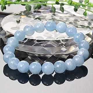 【一点物 10mm玉】 アクアマリン ブレスレット Bracelet ブレスレット Bangle 腕輪 ブレス Aquamarine ミルキーアクア メンズ レディース 天然石 天然石 パワーストーン a19552