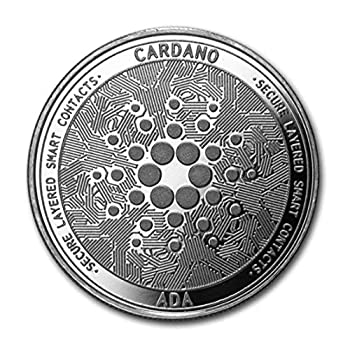 Cardano ADA | Secure Layered Smart Contracts | Cryptocurrency Virtual Currency | Silver Plated Challenge Art Coin | Bitcoin