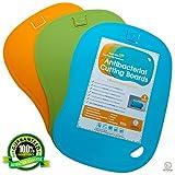Enviroboard - Antimicrobial Cutting Board 3 Set - 100% Microwave Sterilization & Bonus Microwave Lid Cover