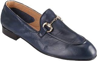 Amazon.it: Mocassini In Pelle Donna Blu: Scarpe e borse