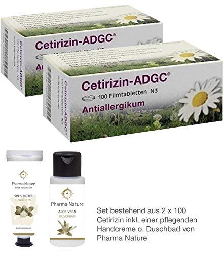 Cetirizin ADGC - 2er Sparset - inkl. einer hochwertigen Handcreme o. Duschbad von Pharma Nature (Apotheken-Express)