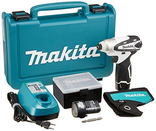 マキタ(Makita)  充電式インパクトドライバ 10.8V 1.3Ah 白 バッテリー2個付き TD090DWXW