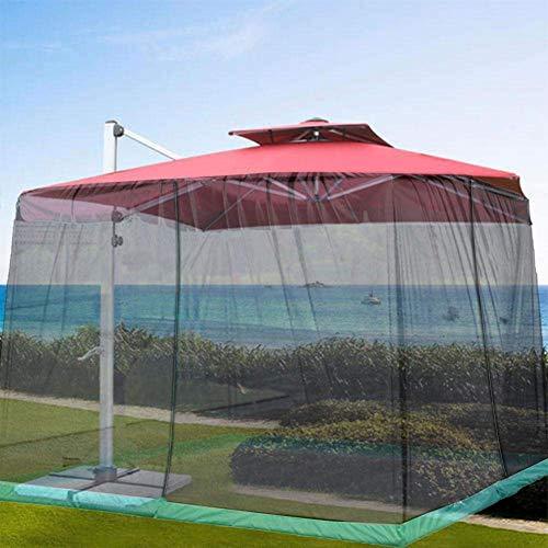 DSHUJC Mosquitera para sombrilla, Malla pequeña con diseño de Cremallera, Cubierta de Malla para sombrilla para Patio al Aire Libre, Adecuada para sombrilla de 250-300 cm de diámetro