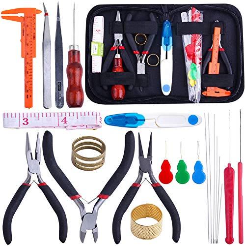 Klebeset zur Herstellung von Schmuck, Werkzeug für Erwachsene, Reparatur von Halskette, Armband, Ohrring, Basteln, Schmuck