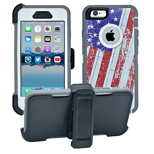 AlphaCell Cover Compatible with iPhone 6 / 6S (NOT Plus) | 2-in-1 Screen Protector & Holster Case | Full Body Military Grade Protection with Carrying Belt Clip | Protective Drop-Proof Shock-Proof