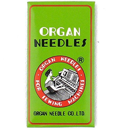 Organ HL X 5 Needles for Juki TL2000QI, TL2010Q, TL98 Series, Janome 1600P and Janome 1600P-QC Machines Size 75/11