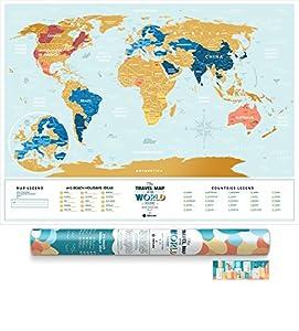 1Dea.Me Mapamundi De Rascar Viaje Vacaciones Por El Mundo