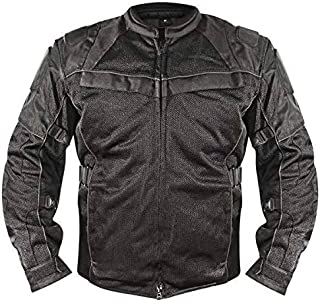 Xelement XS8160 'All Season' Men's Black Tri-Tex/Mesh Jacket - 3X-Large