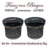 Franz von Bingen - 2er Set fermentierter Knoblauch / Schwarzer Knoblauch aus Südkorea - (2 x 25g) / natürlicher Umami-Geschmacksverstärker - Gewürzmanufaktur