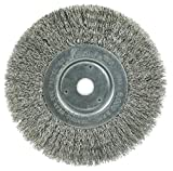 Weiler 01705 6' Narrow Face Crimped Wire Wheel, .0118' Stainless Steel Fill, 5/8'-1/2' Arbor Hole, Made in the USA (Pack of 2)