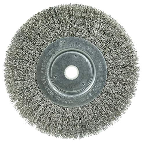 Weiler 01705 6' Narrow Face Crimped Wire Wheel,...