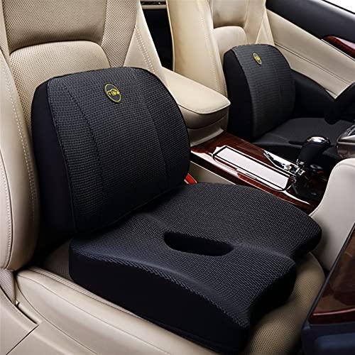 QWLHZW Almohadas de automóviles Asiento Cojín 3D Honeycomb Largo Drive Fatiga Alivio Atrás Soporte Coccyx Almohada Ortopedia Memoria Espuma Anti resbalón (Color Name : Dark Grey set-2pcs)