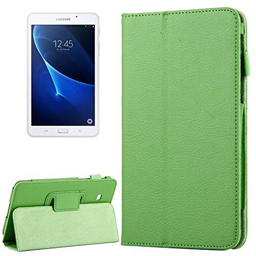 Dmtrab para Para Samsung Galaxy Tab A 7.0 / T280 Case, Litchi Texture Magnetic Horizontal Flip Funda de Cuero con Titular (Azul Oscuro) Casos de la Tableta Galaxy (Color : Green)