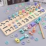 MYA Montessori 3D-Spielzeug, Angeltipp, Holz, magnetisch, für Kinder, Holz, Tische, Fischerei,...