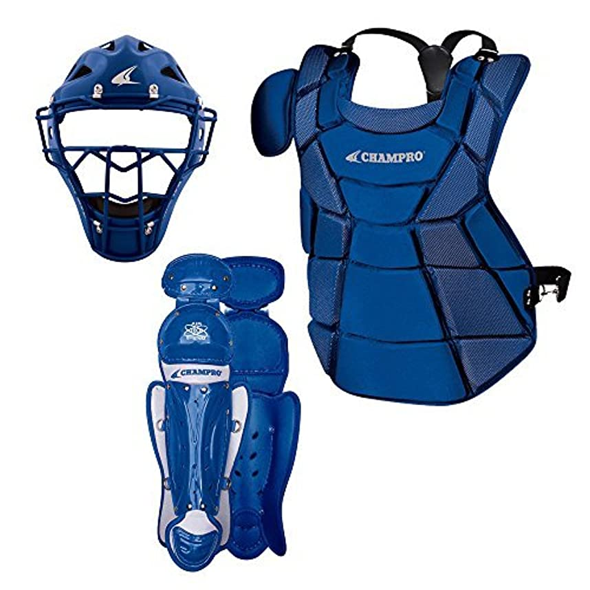 最後の研磨期待するChampro Triple-Play Youth Catcher's Set Royal 6 1/2-7/15.5 [並行輸入品]