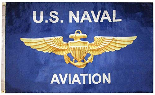 Bed Table, 3x5 USN United States Navy U.S. Naval Aviation 3x5 Premium Poly Flag Banner