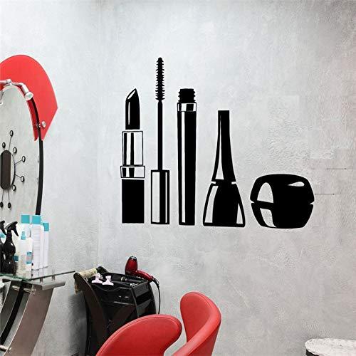 Hllhpc cosmetica make-up meisjes vinyl tattoo muursticker waterbestendig lippenstift vrouw decoratie voor schoonheidssalon 57 x 89 cm