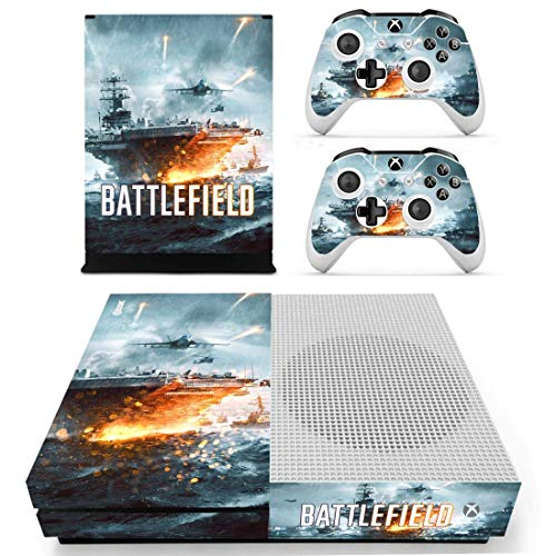 Xbox One S Battlefield Console Skin, Decal, Vinyl, Sticker, Faceplate - Console and 2 Controllers - Protective Cover XBOX ONE S