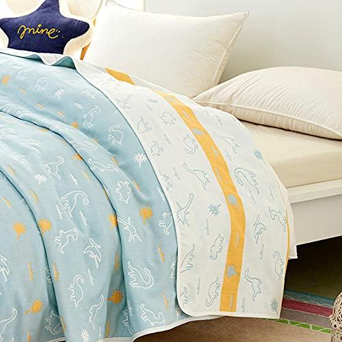 Aire Acondicionado Tiro Manta Mantas de algodón de Verano para Camas Oficina Travel Sofá Sofá Quilt Super Soft Manta Colcha-(A06,90x100cm)