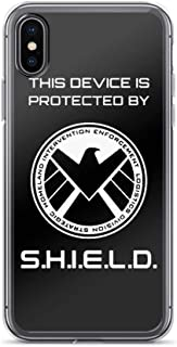 TEEMT Compatible with iPhone X/XS Case Agents Shield Sierra Hotel India Superheros Pure Clear Phone Cases Cover