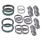 East Lake Axle front wheel bearings & seals kit compatible with Polaris Sportsman/Worker 3...