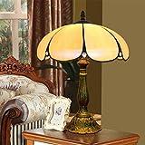 LGHT Style européen rétro Tiffany Couleur Verre Lampe Salon Salle à Manger Chambre Lampe de Table, Diameter 30cm