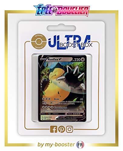 my-booster Ronflex V (Relaxo-V) 141/202 - Ultraboost X Epée et Bouclier 1 - Box mit 10 französisch Pokémon-Karten