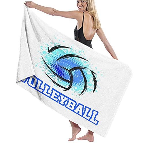 NINEHASA Toalla de Playa de Microfibra,Voleibol Deportes Abstractos Recreación Rebote Circular Pase Ganar Acción Actividad Rollo,Toalla Deportiva Secado Rápido Absorbente para Deportes Viajes Playa