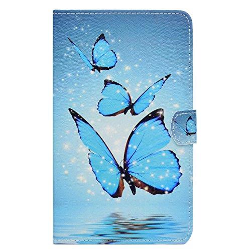 HereMore Cover per Galaxy Tab 3 7.0 Lite, Custodia Protettiva Antiurto con Funzione Supporto e Tasca per Le Schede per Samsung Galaxy Tab 3 Lite 7.0 Pollici Tablet (T110 / T111 / T113 / T116)