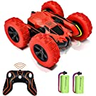 YDPlaier 1 Electric RC Stunt Car 2WD Off Road Remote Control 2.4GHz Racing Vehicle LED Headlights Extreme High Speed 7.5MPH 360 Degree Rolling Rotation(Battery Not Included)