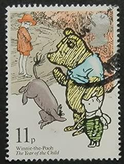 Winnie-The-Pooh UK -Handmade Framed Postage Stamp Art 5460