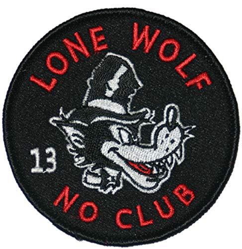 Lucky 13 Lone Wolf bestickter Aufnäher