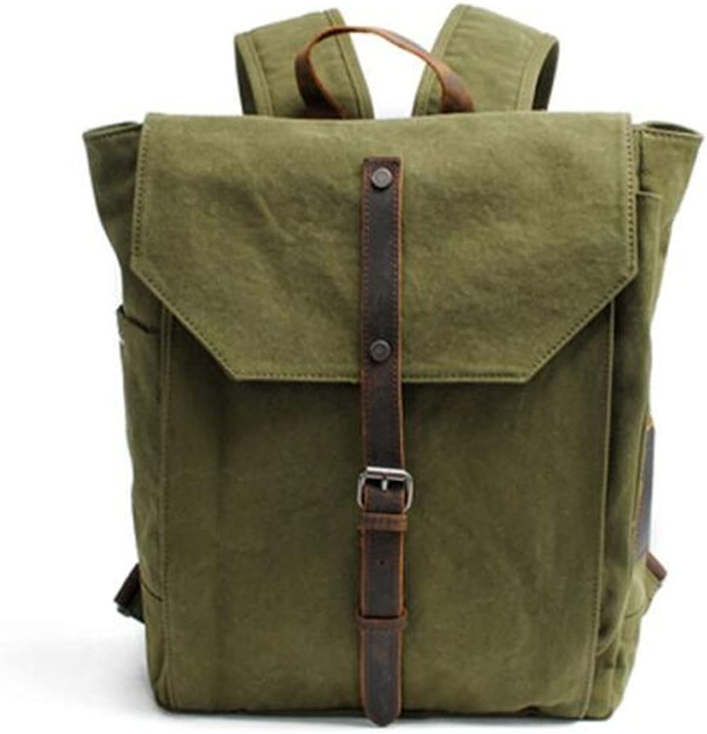 Neutral Rucksack Backpack Unisex Laptop Backpack College School Men and Women Outdoor Travel Camping Hiking (Army Green)