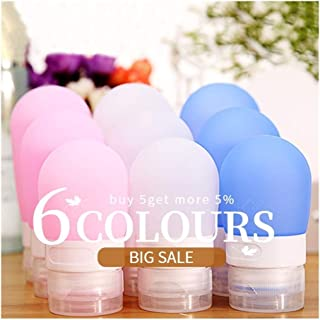 1pc 38ml 60ml 80ml Travel Empty Silicone Portable Silicone Refillable Bottle for Lotion Shampoo Cosmetic Squeeze Containers (Color : Purple, Size : 38ML)