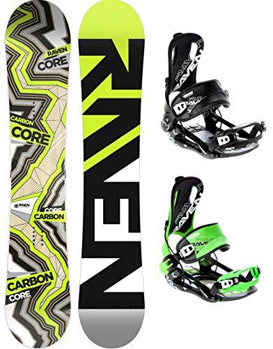 RAVEN Snowboard Set: Snowboard Core Carbon 2020 + Bindung Fastec FT270 (159cm Wide + FT270 Black XL)